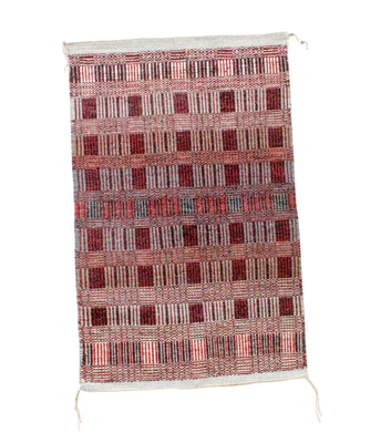 "Load image into Gallery viewer, Virginia Snyder, Two Faced, Rug, Navajo Handwoven, 27"" x 42"""
