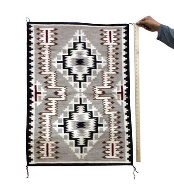 "Load image into Gallery viewer, Felecia Nez, Storm Pattern, Rug, Navajo Handwoven, 27"" x 36"""