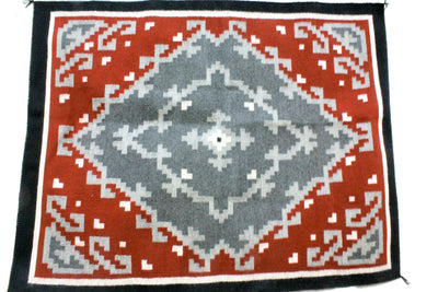 "Load image into Gallery viewer, Larry James Chavez, Gandao, Rug, Navajo Handwoven, 49.5"" x 40"""