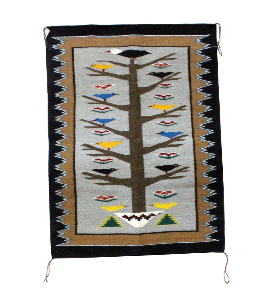 Anna Gray, Tree of Life Rug, Navajo Handwoven, 35
