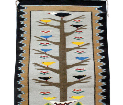 "Load image into Gallery viewer, Anna Gray, Tree of Life Rug, Navajo Handwoven, 35"" x 47.5"""