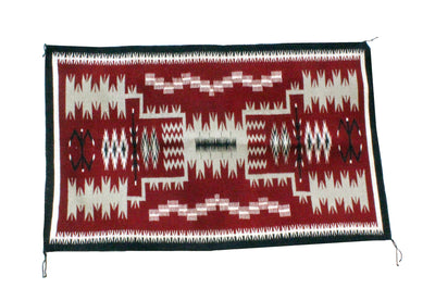 "Load image into Gallery viewer, Brenda Wilson, Storm Pattern, Rug, Navajo Handwoven, 49"" x 30"""