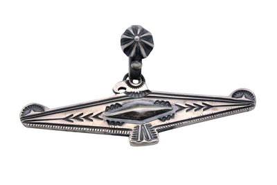 Load image into Gallery viewer, Delbert Gordon, Pendant, Eagle, Navajo Handmade, Sterling Silver, Old Style, 1.5
