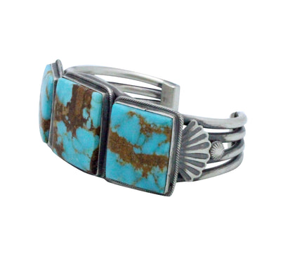 Load image into Gallery viewer, Freddie Maloney, Bracelet, Turquoise Mountain, Silver, Navajo Handmade, 6 3/4
