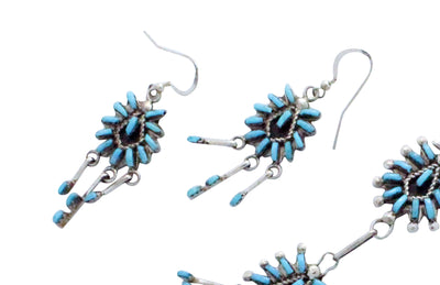 Load image into Gallery viewer, Keith Leekity, Necklace, Earring, Sleeping Beauty Turquoise, Zuni Handmade, 25