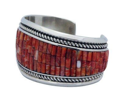 Load image into Gallery viewer, Dan Jackson, Bracelet, Spiny Oyster Shell, Sterling Silver, Navajo Handmade, 6.5
