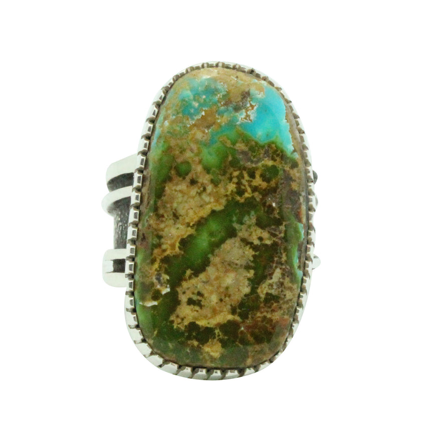 Tommy Jackson, Ring, Pilot Mountain Turquoise, Sterling Silver, Navajo Made, 11