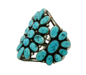 Hoskie Jim, Bracelet, Sleeping Beauty Turquoise, Circa 1980s, Navajo Made, 6 5/8""