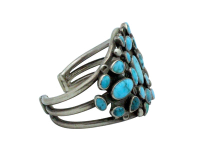 Load image into Gallery viewer, Navajo Handmade Bracelet, Nevada Turquoise, Circa 1930s, Museum Quality, 6 5/8""
