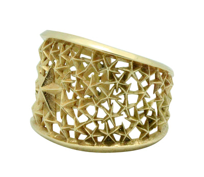 Load image into Gallery viewer, Aaron Anderson, Bracelet, Solid 14k Gold, Star Design, Navajo Handmade, 6.25