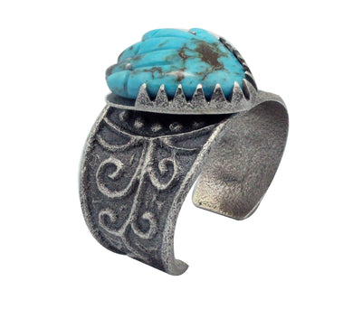 Load image into Gallery viewer, Monty Claw, Pete, Dinah Gasper, Bracelet, Carved Hand, Zuni, Navajo Made, 6.25