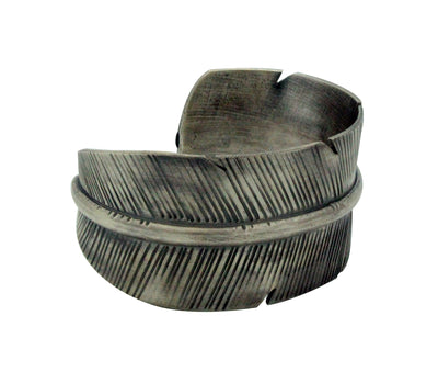 Load image into Gallery viewer, Melvin Francis, Bracelet, Sterling Silver, Eagle Feather, Navajo Handmade, 7