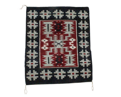 "Load image into Gallery viewer, Charlene Begay, Storm Pattern, Rug, Navajo Handwoven, 31.25"" x 37"""