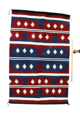 "Load image into Gallery viewer, Donald Yazzie, Wide Ruins Rug, Navajo Handwoven, 76"" x 49"""