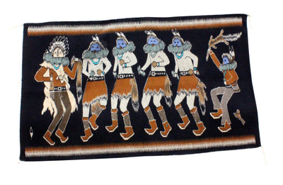 Load image into Gallery viewer, Shirley Combs, Yei Bi Chei Rug, Navajo Handwoven, 38 x 63""