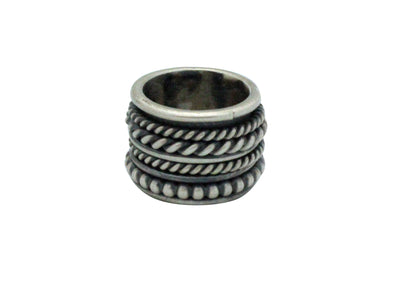 Load image into Gallery viewer, Melvin Francis, Ring, Wide, Sterling Silver, Spinners, Navajo Handmade, 5.5