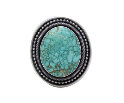 Load image into Gallery viewer, Ernest Roy Begay, Ring, Carico Lake Turquoise, Sterling Silver, Navajo Made, 8.5
