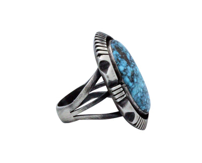Load image into Gallery viewer, Floyd Parkhurst, Ring, Kingman Turquoise, Box Setting, Navajo Handmade, 10