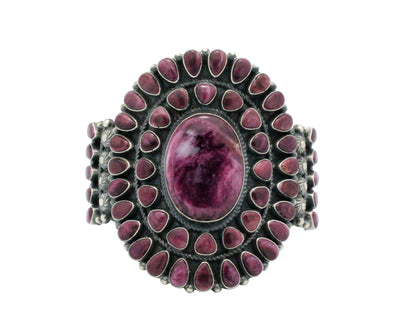 Load image into Gallery viewer, Anthony Skeets, Bracelet, Purple Spiny Oyster, Cluster, Navajo Handmade, 6.5