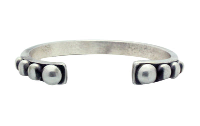 Load image into Gallery viewer, Calvin Martinez, Bracelet, Round Wire, Diamond Eye Stacker, Silver, Navajo Made, 6.5