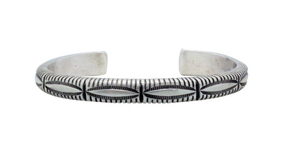 Load image into Gallery viewer, Calvin Martinez, Bracelet, Original Stamping, Revival Stacker, Navajo Made, 6 1/2""