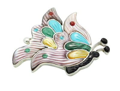 Load image into Gallery viewer, Tamara Pinto, Pin, Pendant, Flying Butterfly, Multi Stone, Zuni Handmade, 2