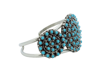 Load image into Gallery viewer, Randy Hooee, Bracelet, Kingman Turquoise, Petit Point, Zuni Handmade, 6.5