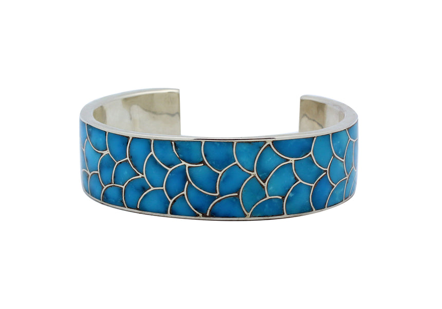Lynelle Johnson, Bracelet, Sleeping Beauty Turquoise, Inlay, Zuni Made, 7