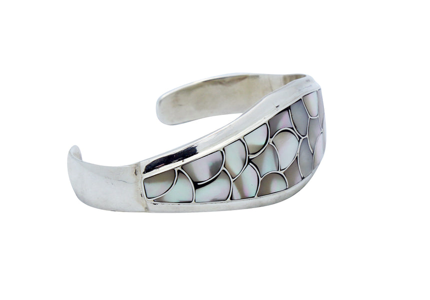 Lynette Johnson, Bracelet, Mother of Pearl Shell, Inlay, Zuni Handmade,7