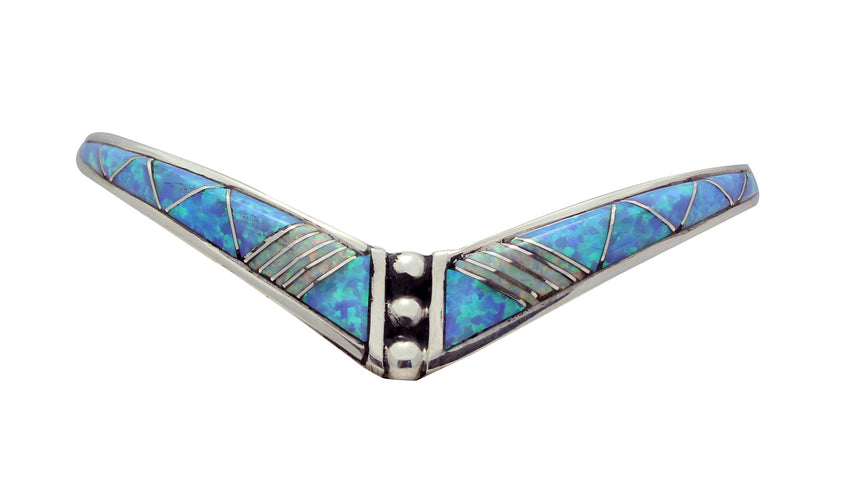 Phyllis Lucio, Bracelet, Synthetic Opal, Sterling Silver, Zuni Handmade, 6.25