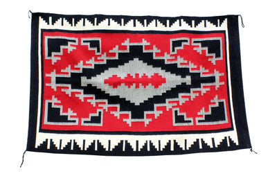 "Load image into Gallery viewer, Alice Cook, Ganado Red, White, Red, Rug, Handmade, Navajo, 47"" x 31"""
