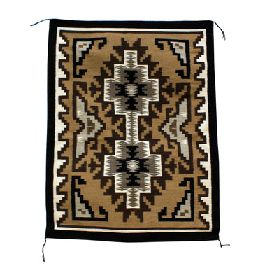 "Load image into Gallery viewer, Stella Wilson, Two Grey Hills Rug, Navajo, Handwoven, 38"" x 25"""