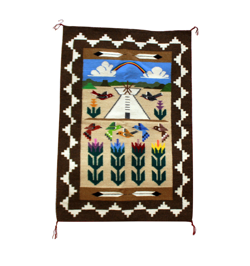 Marilyn Begay, Pictorial, Handwoven, Navajo, 23.5