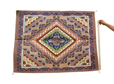 "Load image into Gallery viewer, Rose Gambler, Burntwater Rug, Navajo Handwoven, 44"" x 58.5"""