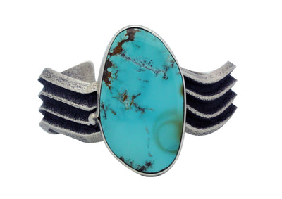 Load image into Gallery viewer, Monty Claw, Bracelet, Tufa Cast, Royal Blue Turquoise, Navajo Handmade, 6.75