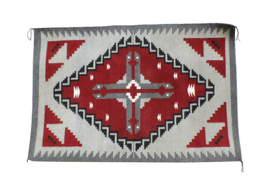 "Load image into Gallery viewer, Annie E Yazzie, Ganado Red Rug, Navajo Handwoven, 50"" x 32"""