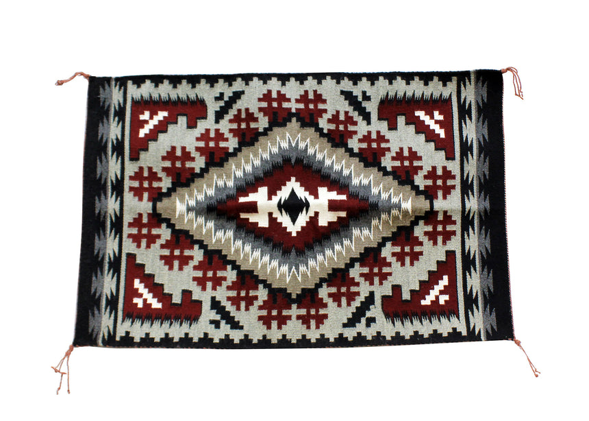 Jefferson Benally, Ganado Rug, Handwoven, Navajo, 41