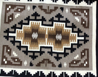 "Load image into Gallery viewer, Stella Wilson, Two Grey Hills Rug, Handwoven, Navajo, 29"" x 38"""