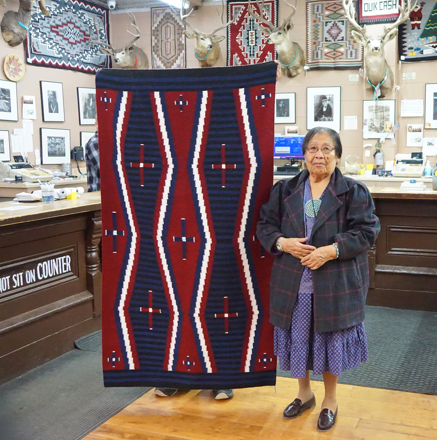 Lucy Manning, Navajo Rug, Chief Blanket, Handwoven, 70