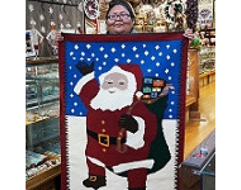 Wenora Joe, Christmas Pictorial, Navajo Handwoven Rug, 35