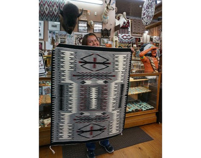 Load image into Gallery viewer, Theresa Begay, Storm Rug, Navajo Handwoven, 47 in x 37 in