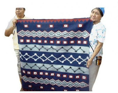 "Load image into Gallery viewer, Winnie Yazzie, Navajo Chief's Design, Navajo Hand Woven, 47"" x 51"""