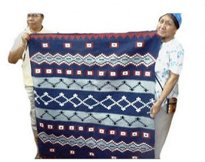 "Winnie Yazzie, Navajo Chief's Design, Navajo Hand Woven, 47"" x 51"""