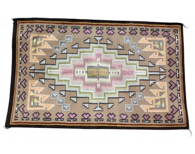 Load image into Gallery viewer, Sadie Charlie, Burntwater Rug, Navajo Handwoven, 48 in x 30 in