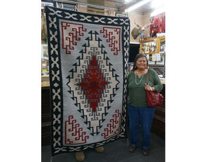 Alfrieda James, Ganado Red Rug, Navajo Handwoven, 45 in x 70 in