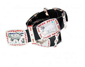 Nancy, Ruddell Laconsello, Animal Concho Belt, Multi-Stone, Zuni