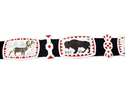 Load image into Gallery viewer, Nancy, Ruddell Laconsello, Animal Concho Belt, Multi-Stone, Zuni