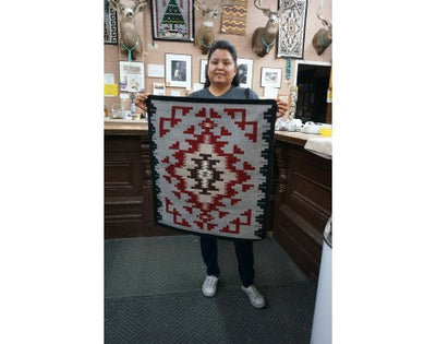 Load image into Gallery viewer, Brenda Wilson, Ganado Rug, Navajo Handwoven, 31 in x 27 in