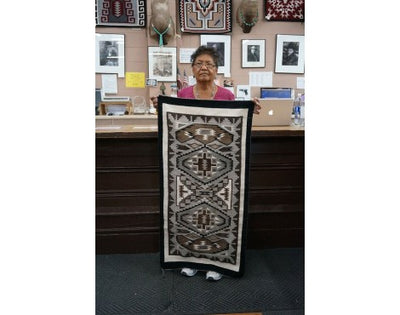 Load image into Gallery viewer, Ceclia Tsosie, Two Gery Hills, Navajo Handwoven, 25'' x 50 1/2''