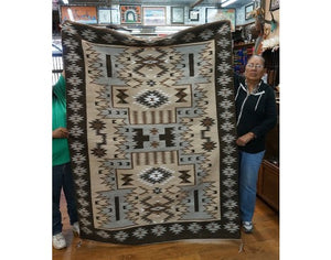 Charlene Begay, Eye Dazzler, Large, Navajo Handwoven Rug, 75 in x 57 in